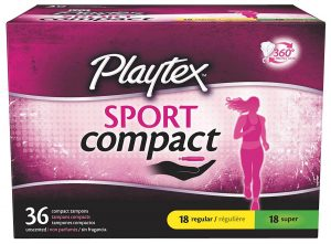 Playtex Sport Compact Athletic Tampons